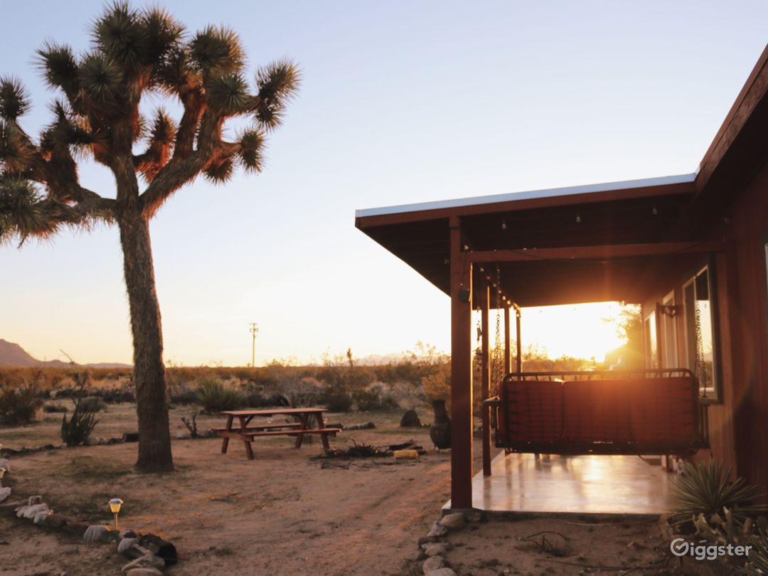 Back porch with the most epic desert views