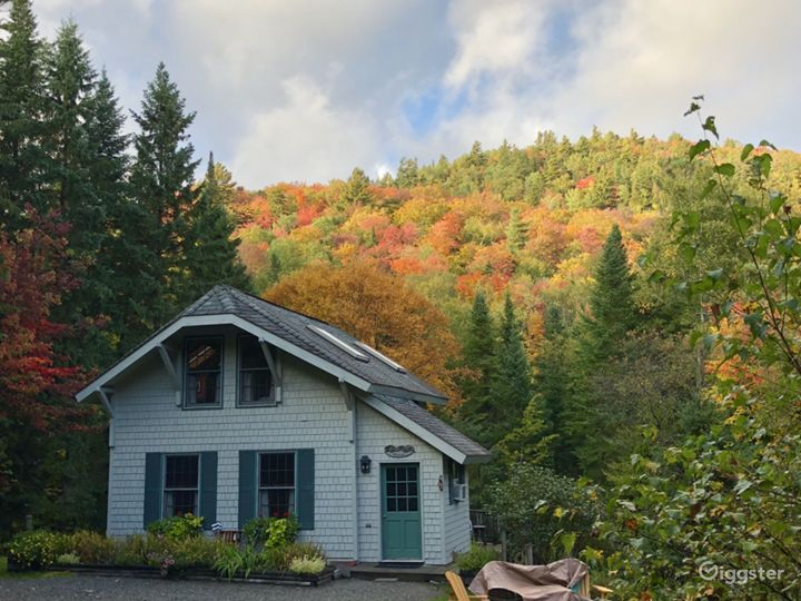 Spectacular fall foliage surrounds