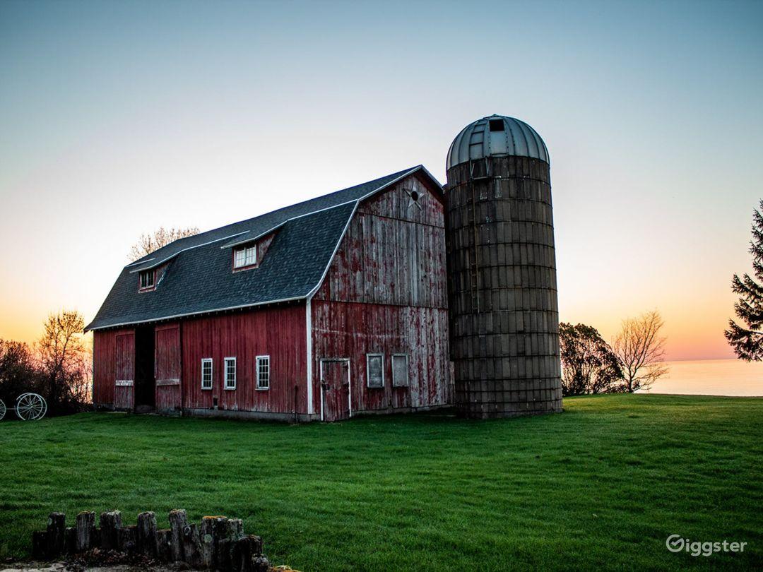 Barn & Silo on Lake Michigan