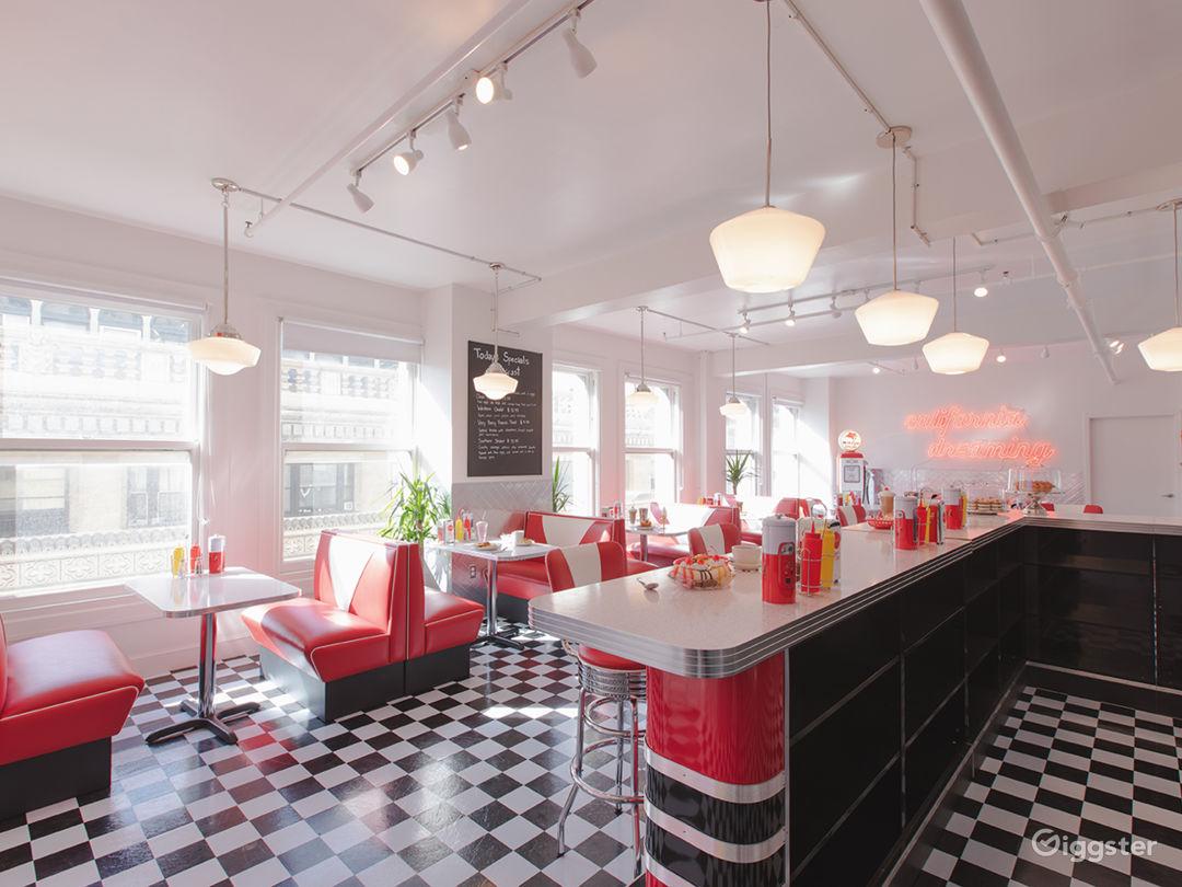 DTLA Sun Drenched 50s Retro Diner Restaurant Cafe Photo 5