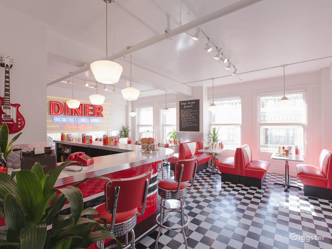 DTLA Sun Drenched 50s Retro Diner Restaurant Cafe Photo 3