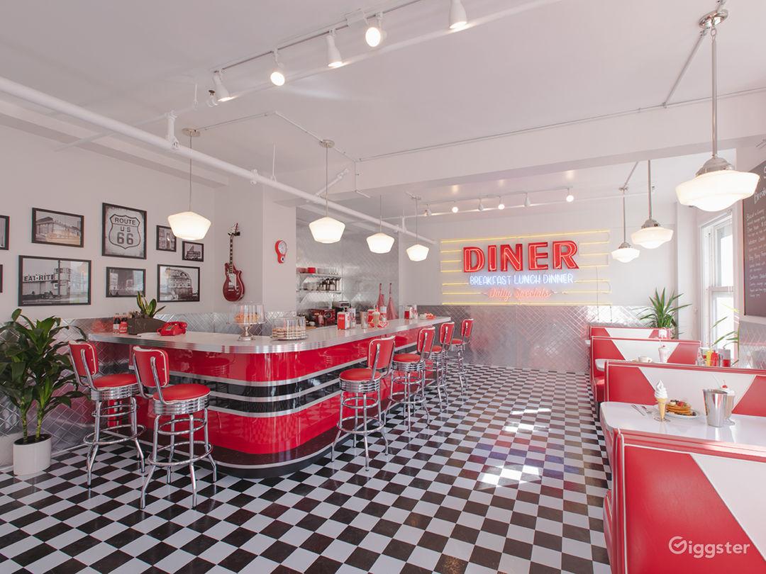 DTLA Sun Drenched 50s Retro Diner Restaurant Cafe Photo 1