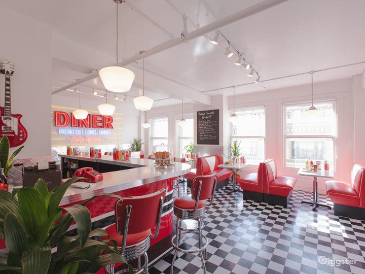 DTLA Sun Drenched 50s Retro Diner Restaurant Cafe Photo 4