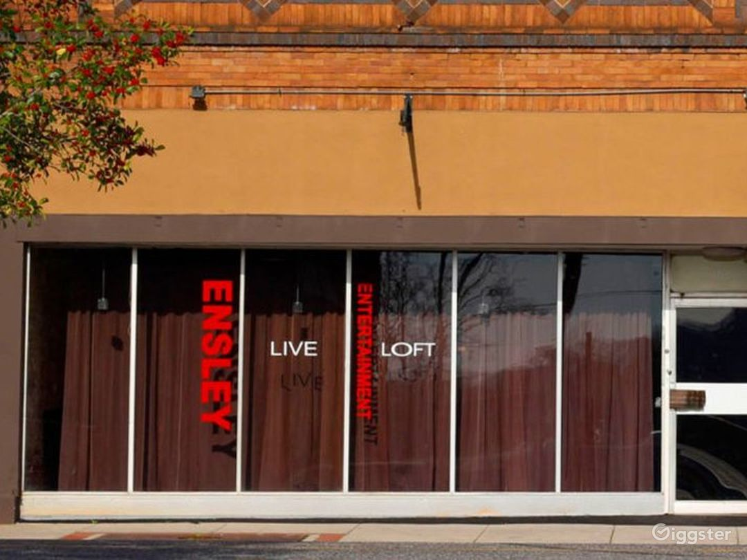 Live Loft located in the vibrant Ensley Entertainment District where revitalization and renovations are underway