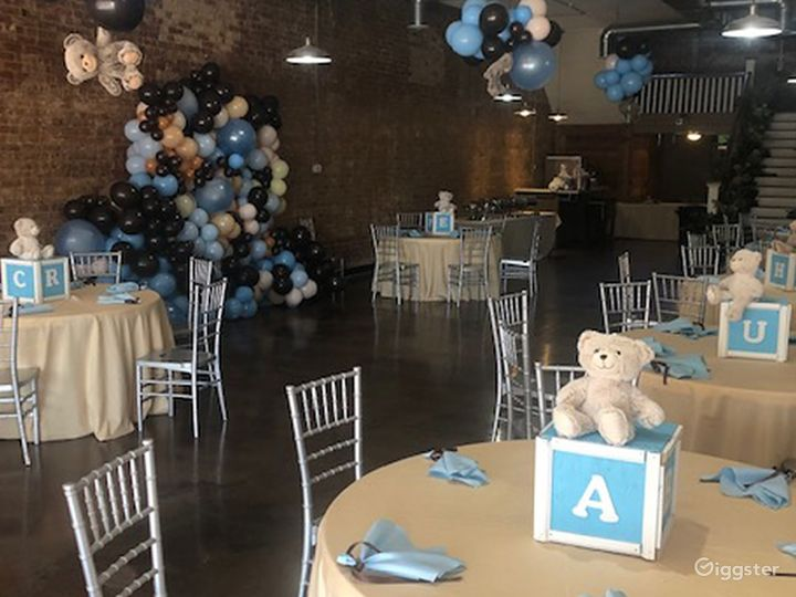 Live Loft perfect setting for baby showers