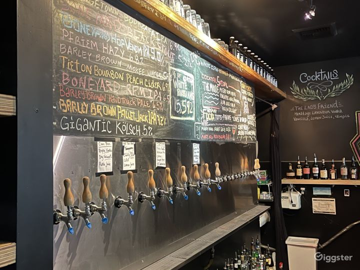 Many taps. And a nifty chalkboard.