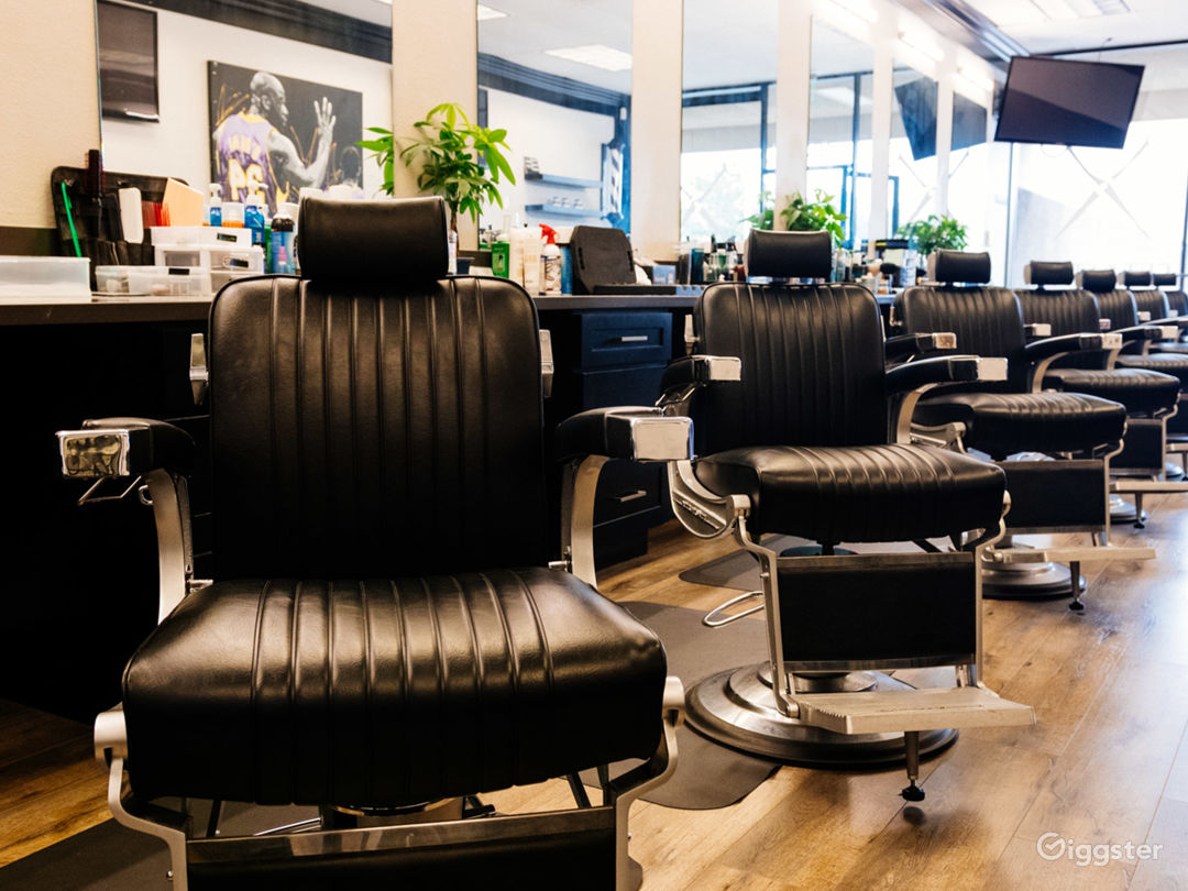 Brand new hardwood flooring and barber chairs recently installed