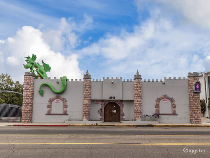 Huge Castle w/ a Dragon on the Roof!