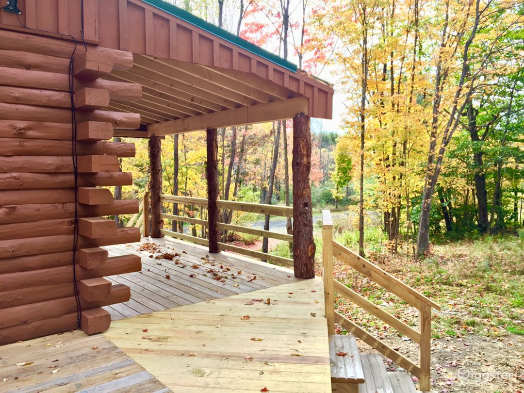 Secluded Custom Log Home in Catskill Mountains Photo 5