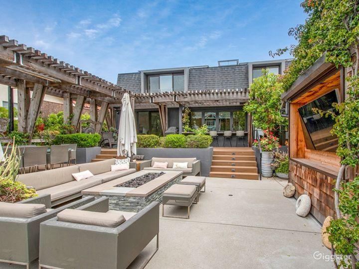 Backyard seating area - outdoor TV