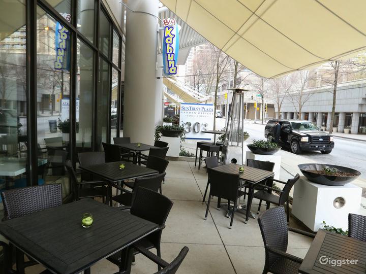 Trendy Beach Style Restaurant Space & Street Patio Photo 5