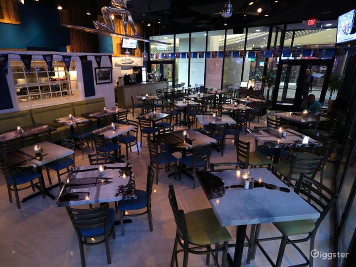 Trendy Beach Style Restaurant Space & Street Patio Photo 2