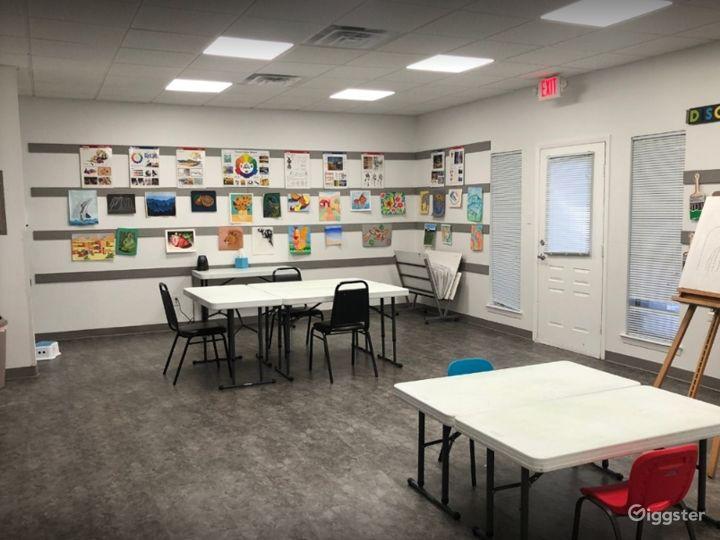 Fun and Colorful Art School in SW Austin