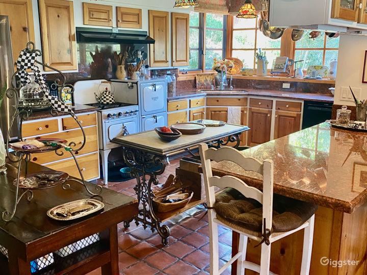 Open rustic kitchen