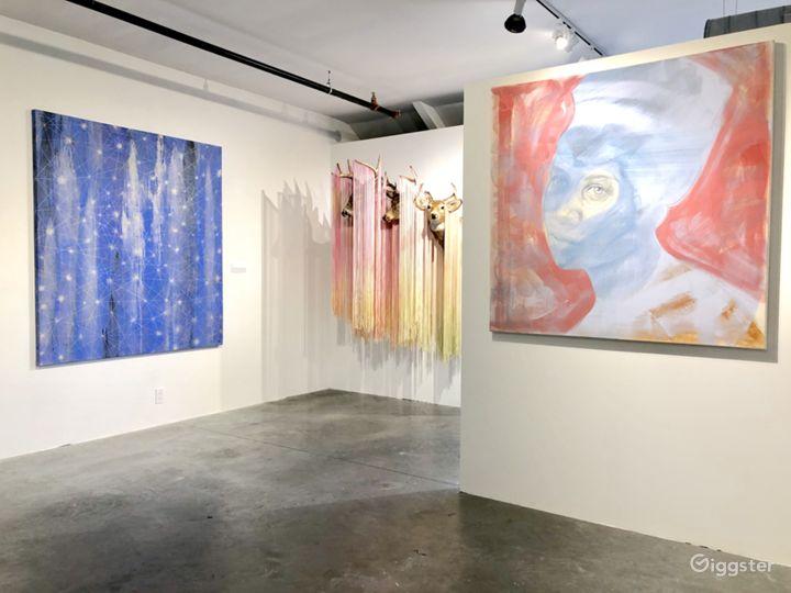 Contemporary industrial gallery space