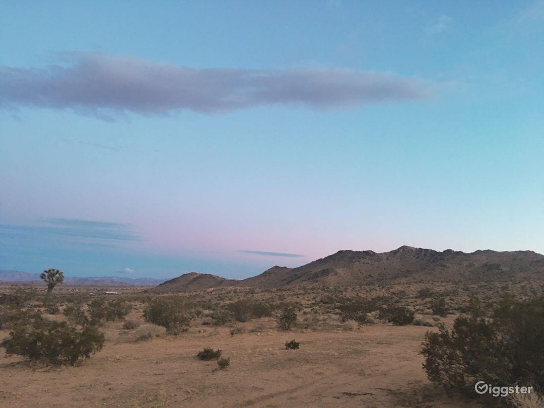 Sunset Desert Land Photo 1