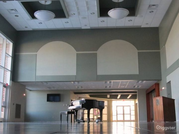 Glass Walled High Ceiling Events Space Photo 4