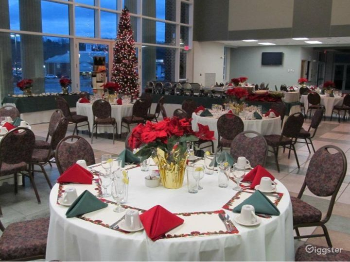 Glass Walled High Ceiling Events Space Photo 5