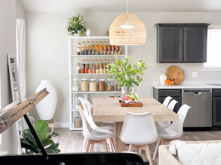 Bright, Scandinavian inspired interior with an edge of Bohemian