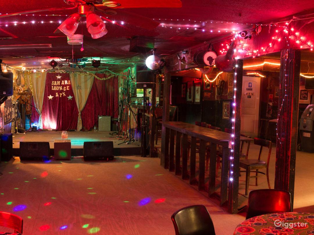 Sahara stage and dance floor
