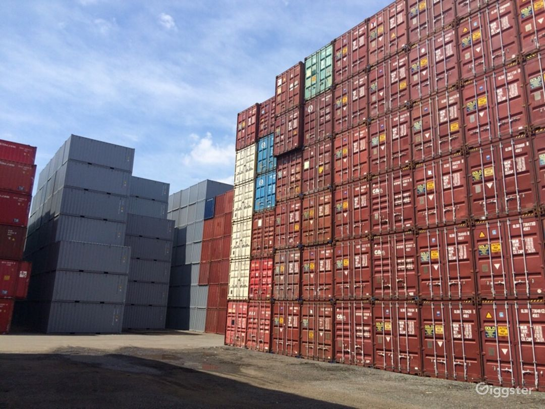 Massive Industrial Container Yard Photo 2