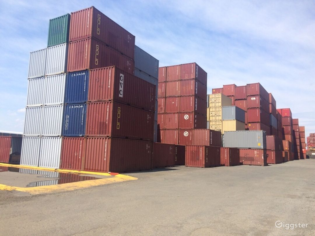 Massive Industrial Container Yard Photo 1