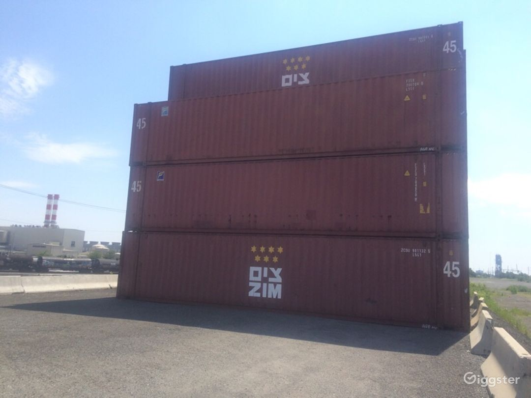 Massive Industrial Container Yard Photo 5