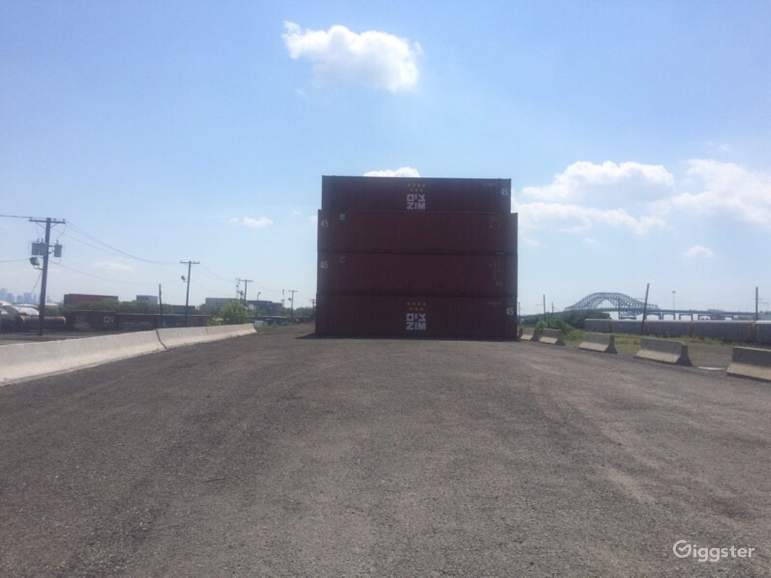 Massive Industrial Container Yard Photo 4