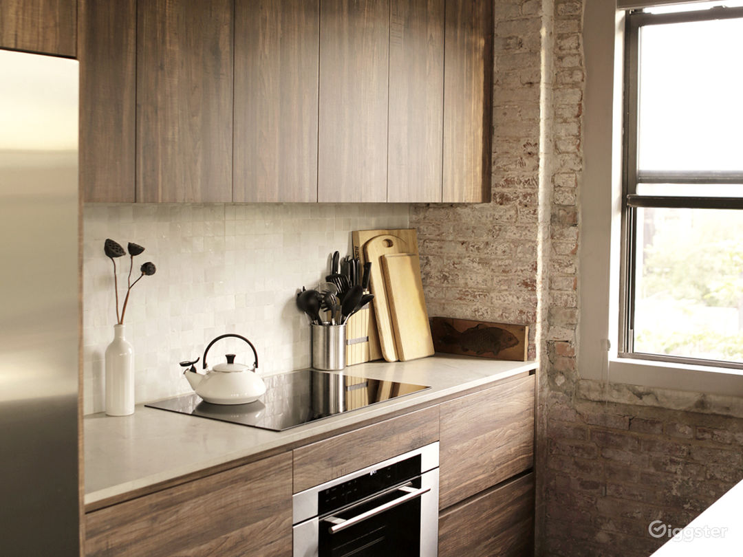 Kitchen with Induction Cooktop