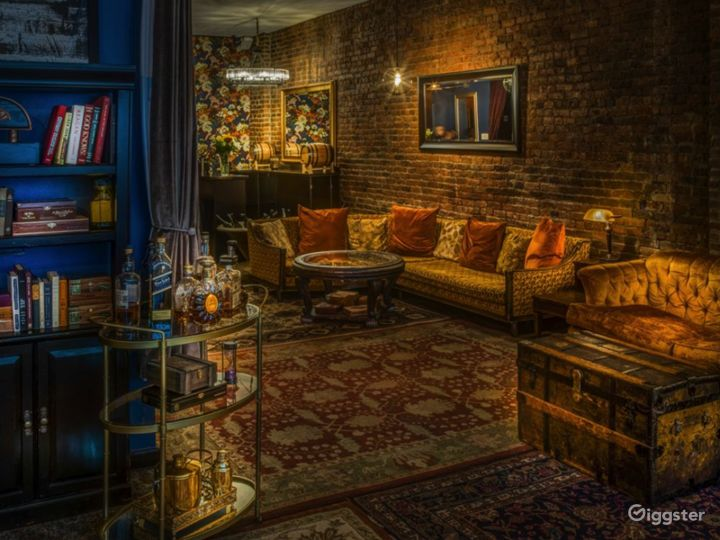 Speakeasy styled loft with themed rooms