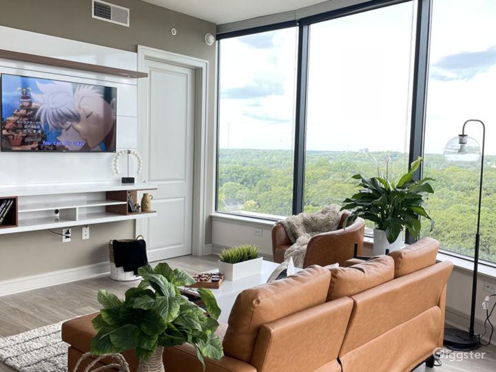 Smart tv in living room.