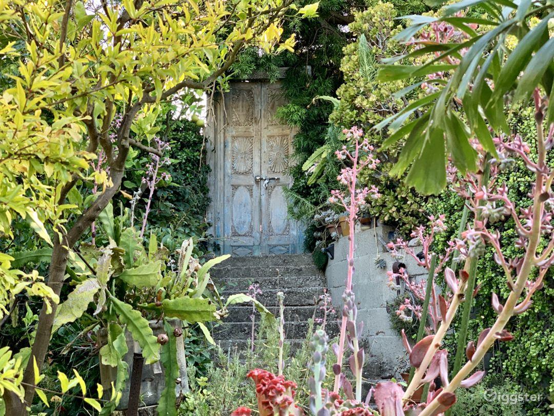 Secret Garden - doorway connects the upper and lower lots