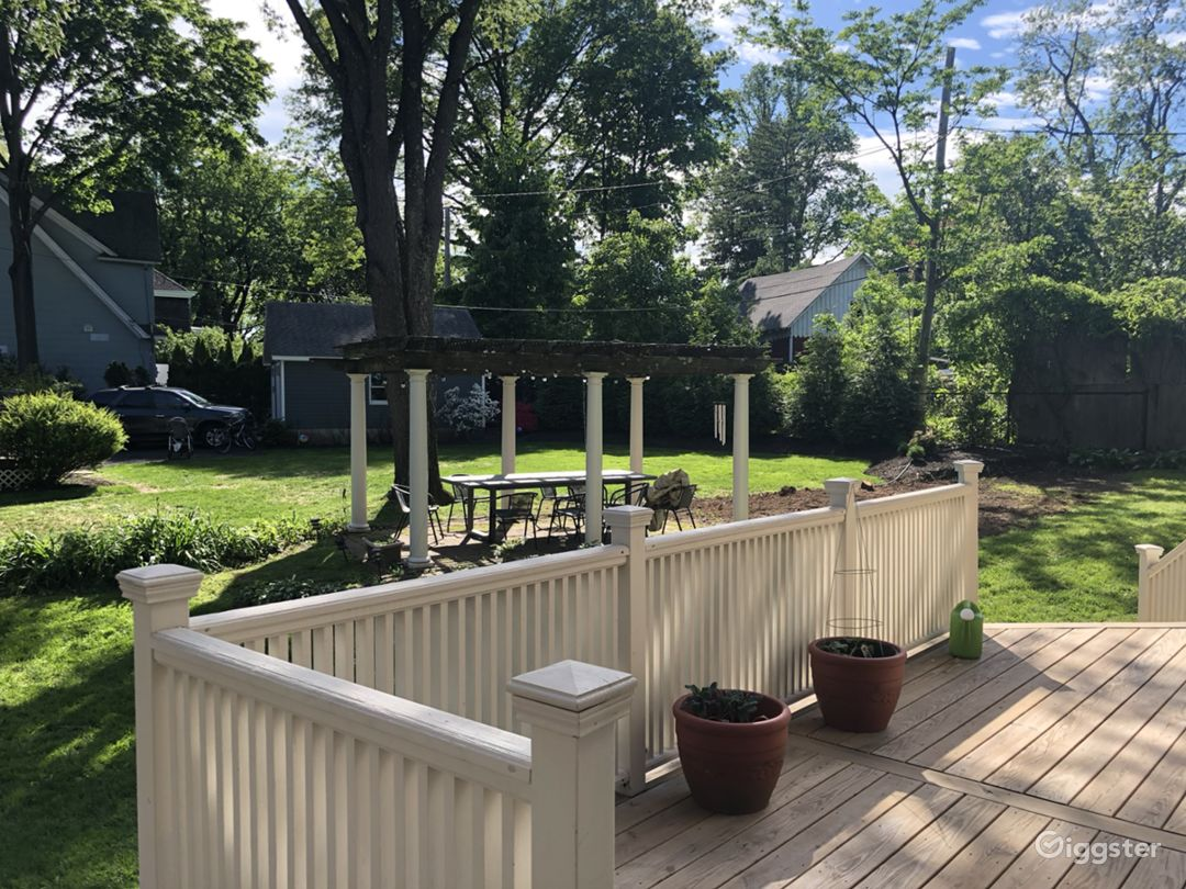 Side yard and pergola