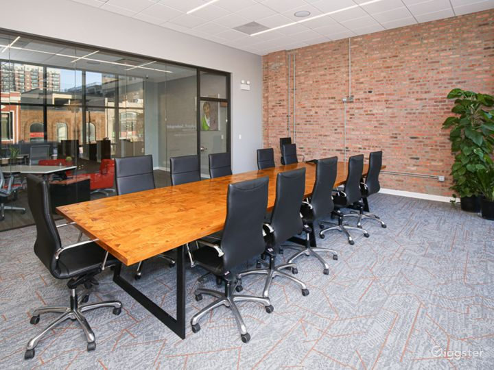 Floor-to-Ceiling Glass Walls Large Conference Room Photo 3