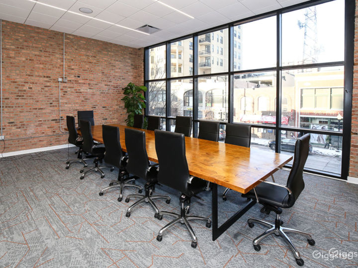 Floor-to-Ceiling Glass Walls Large Conference Room Photo 2