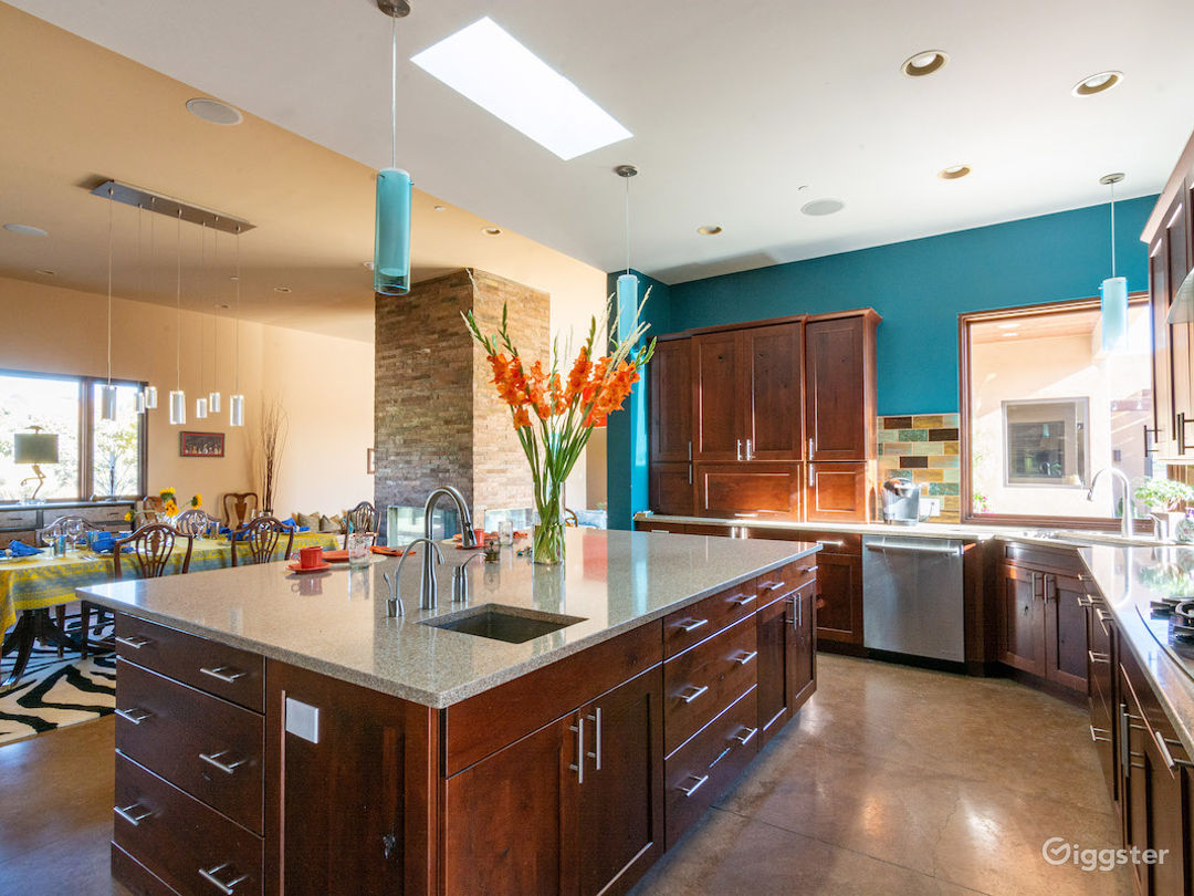 Kitchen, Dining Room.  Open concept with large island