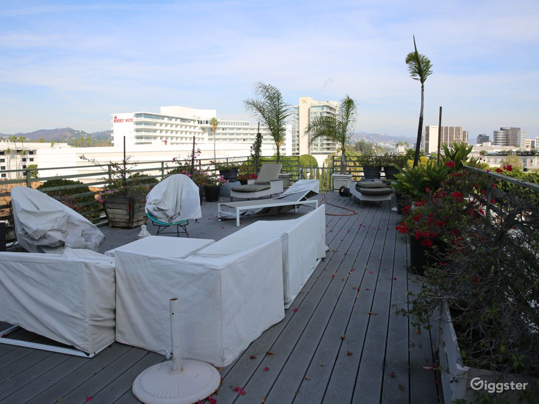 Rooftop view of the Beverly Hilton