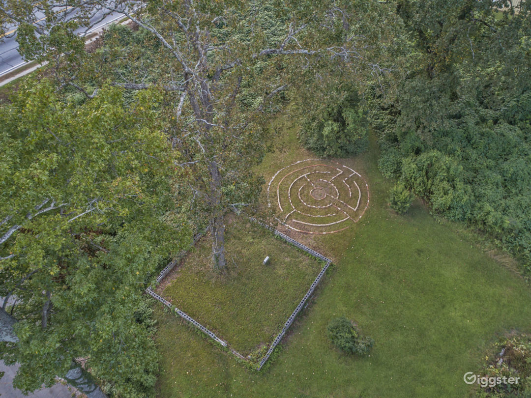 Our property has 2 historic cemeteries and a labyrinth.