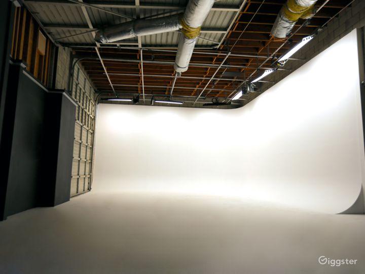 Beautiful Two Wall Cyc Studio