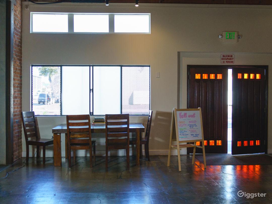 Warhol Studio [Main] - 71 x 31 ft | Main Entrance  and Windows