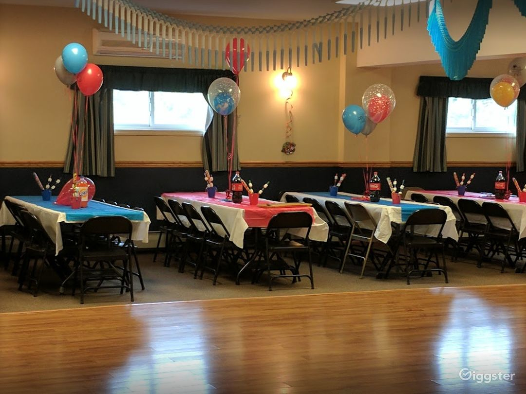 Wide and Fun Party Venue Downstairs in Newton  Photo 1