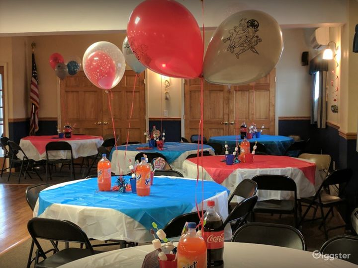 Wide and Fun Party Venue Downstairs in Newton  Photo 5