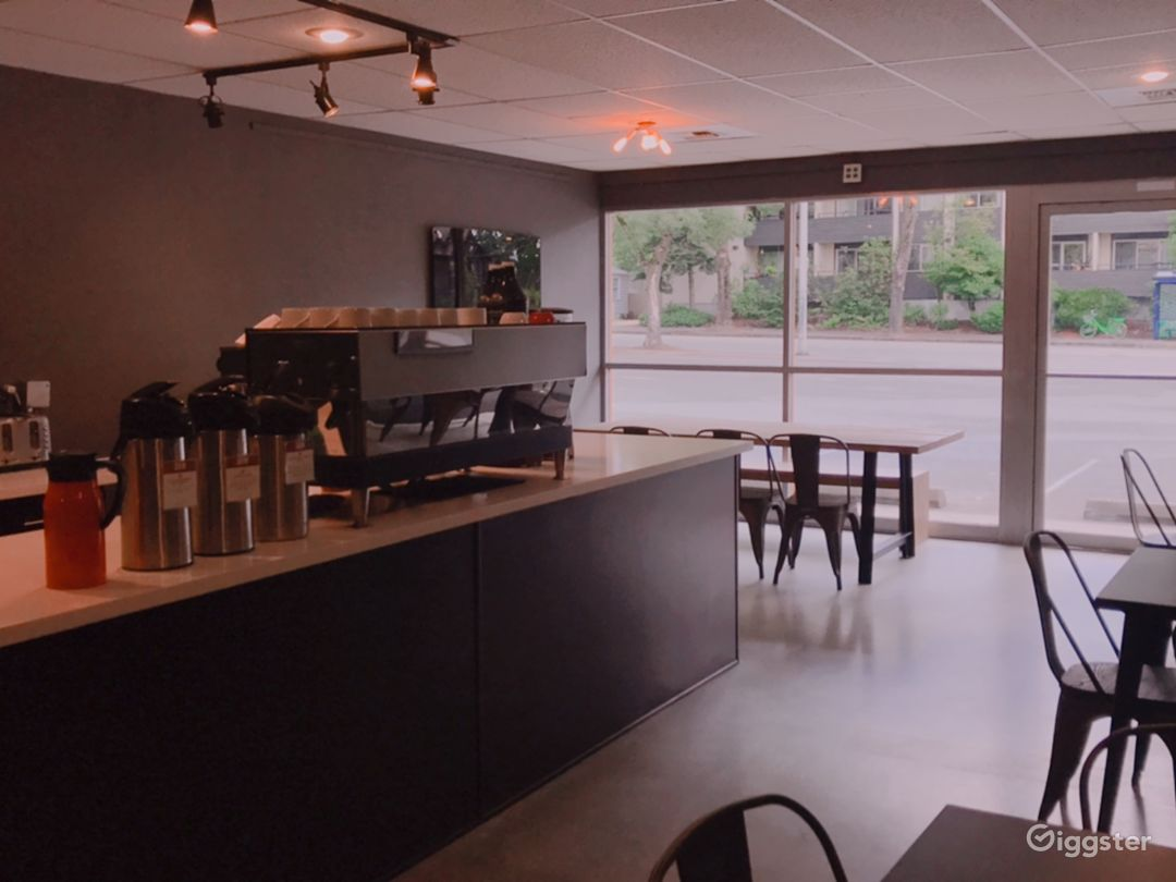 Modern coffee shop space with an onsite barista Photo 1