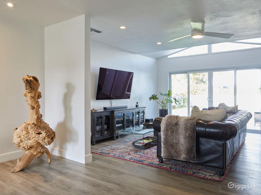 Living Room Fire Place POV