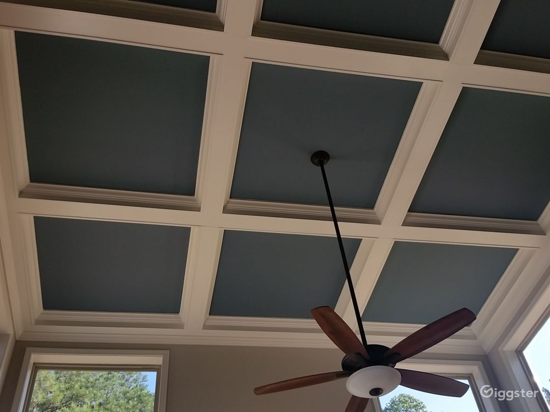 Ceiling in family room area