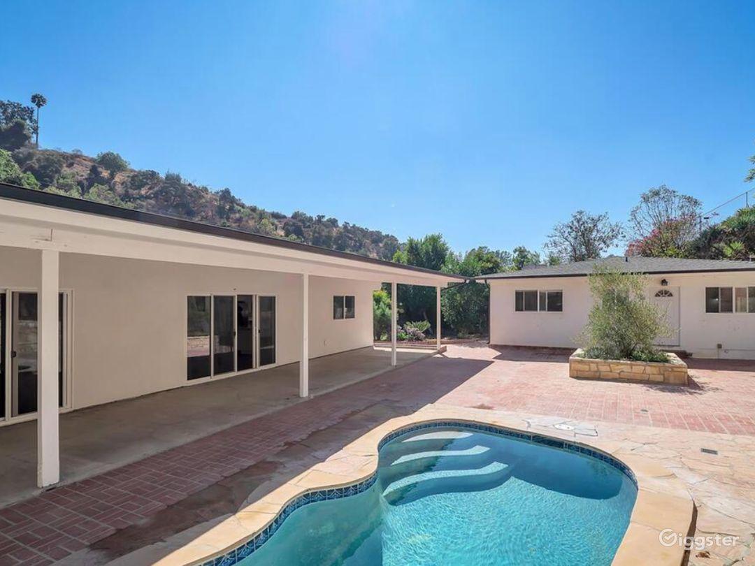 Backyard and plunge pool.