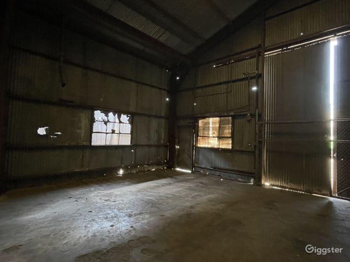 Rusted Metal Warehouse Studio Photo 5