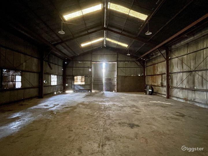 Rusted Metal Warehouse Studio Photo 2