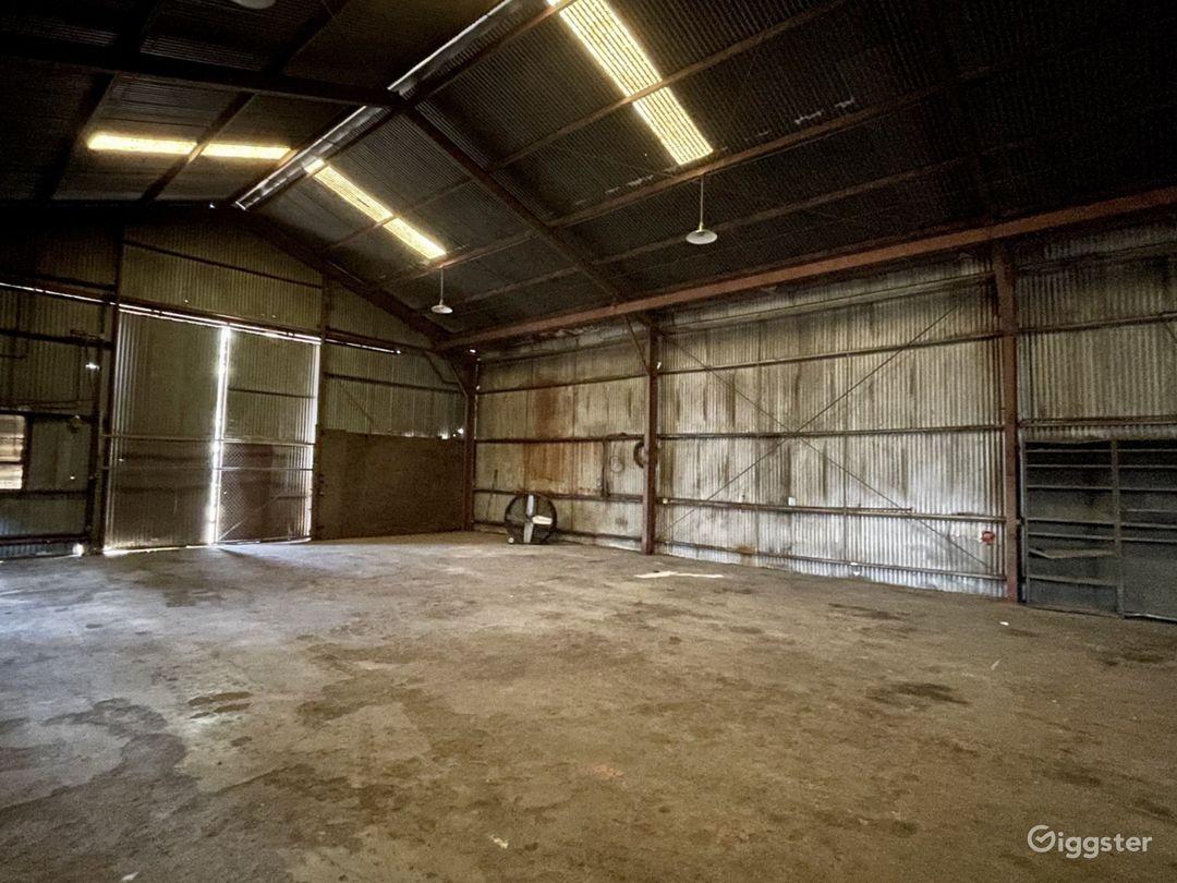 Rusted Metal Warehouse Studio Photo 1