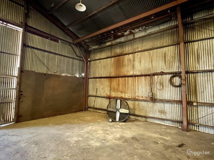 Rusted Metal Warehouse Studio Photo 3